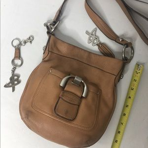 B.Makowsky  crossbody tan color leather bag